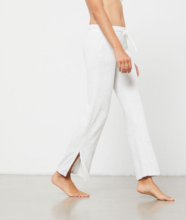 Pantalon maille côtelée