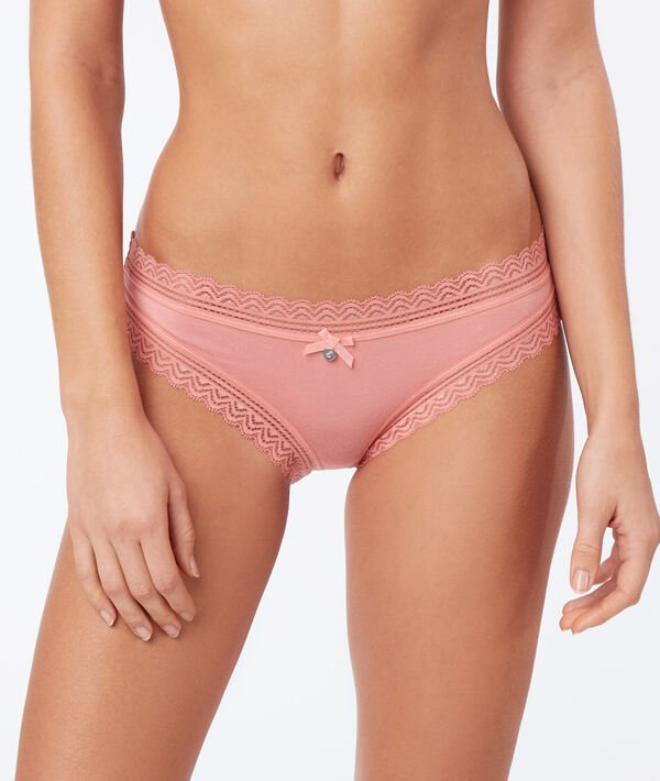 Culotte 90% modal, bords dentelle