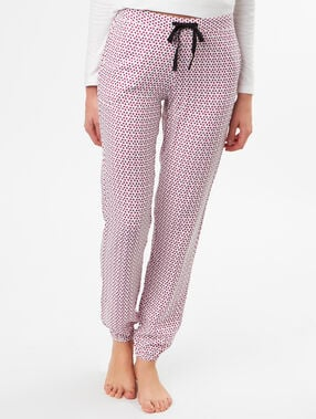 Pantalon imprimé rose.