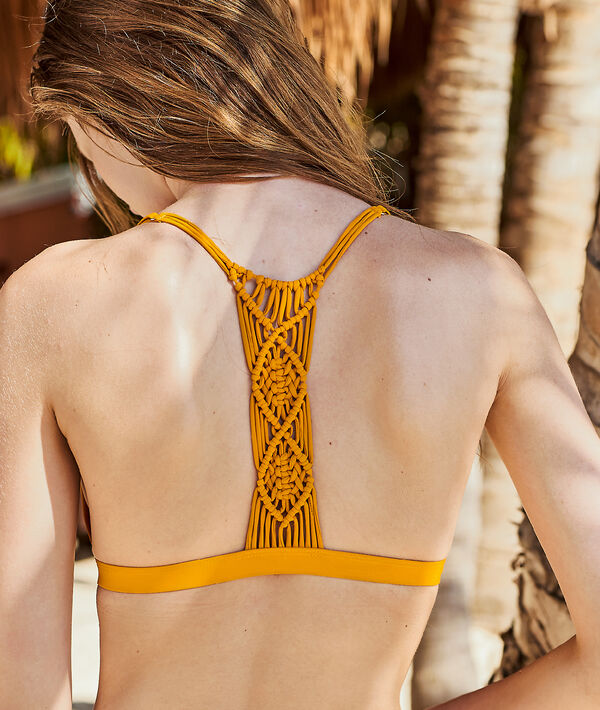 Haut de maillot de bain triangle, dos tressé
