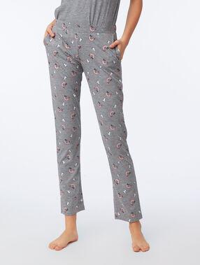 Pantalon imprimé anthracite.
