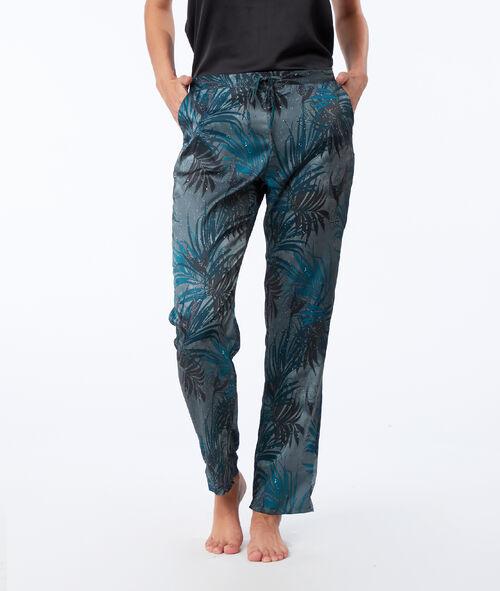 Pyjama 3 pièces satin