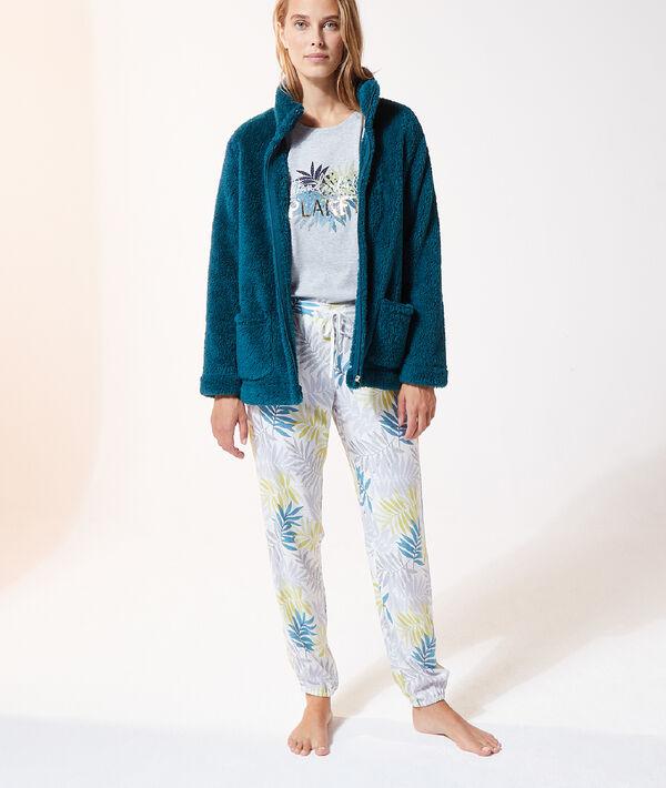 Pyjama 3 pièces imprimé fleuri;${refinementColor}