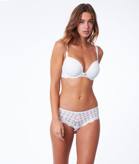Shorty en dentelle blanc.
