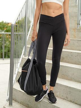 Legging de yoga, taille mi-haute noir.
