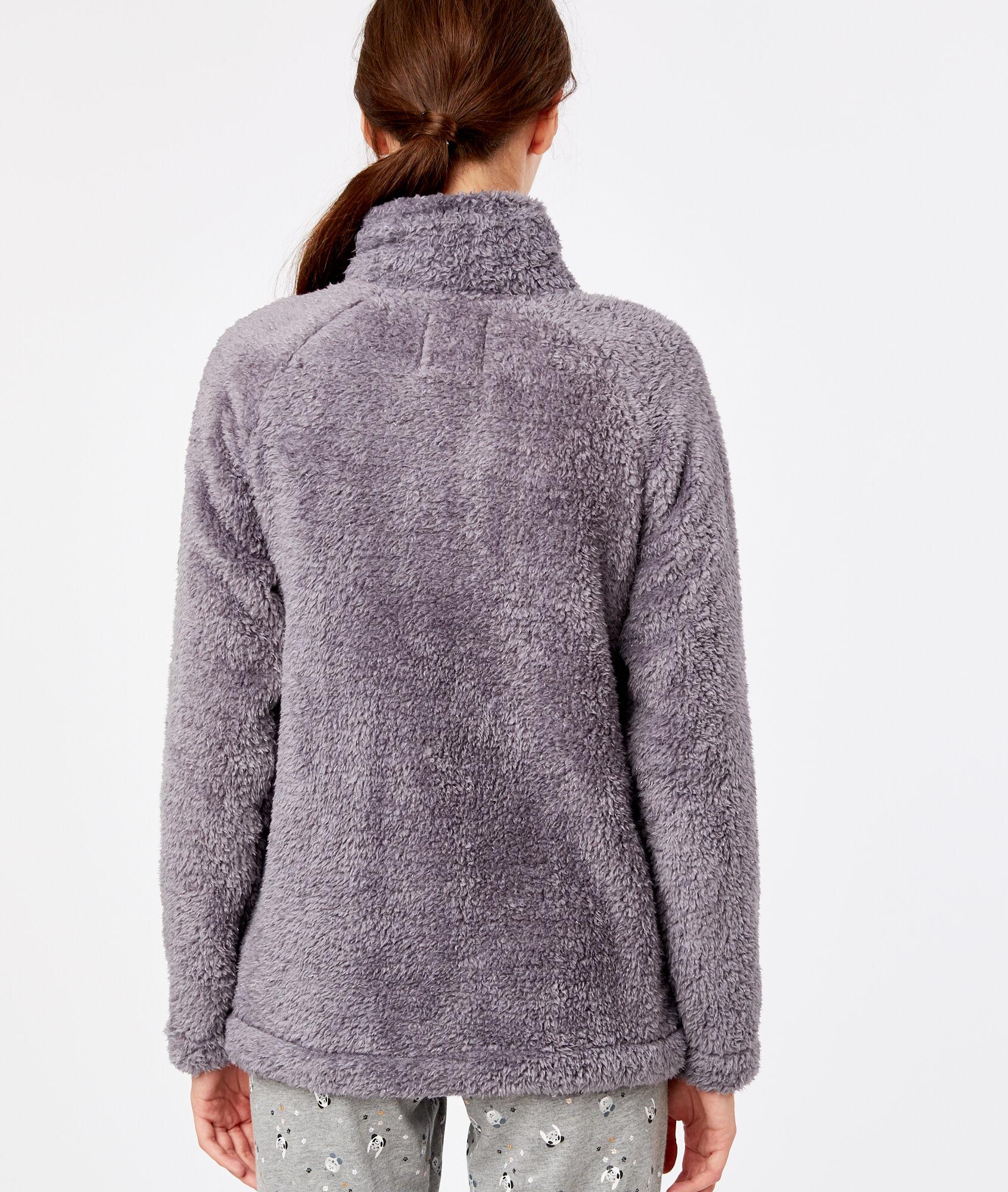 Etam Bello Fourrure Anthracite Homewear Fausse Veste w6qTYT