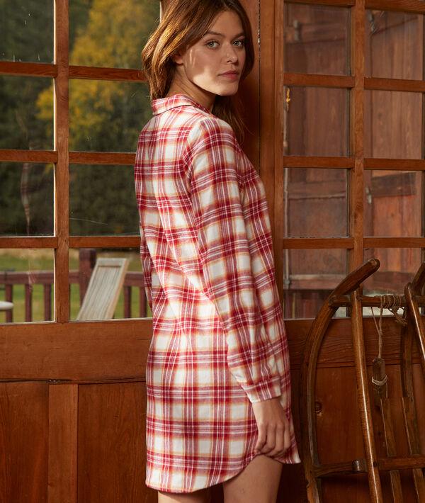 Chemise de nuit à carreaux en coton