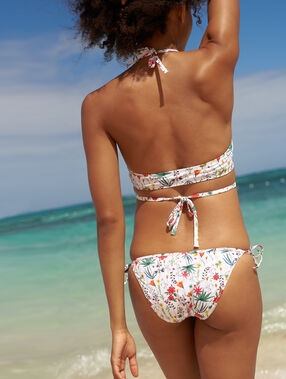 Bas de bikini à nouer multicolore.