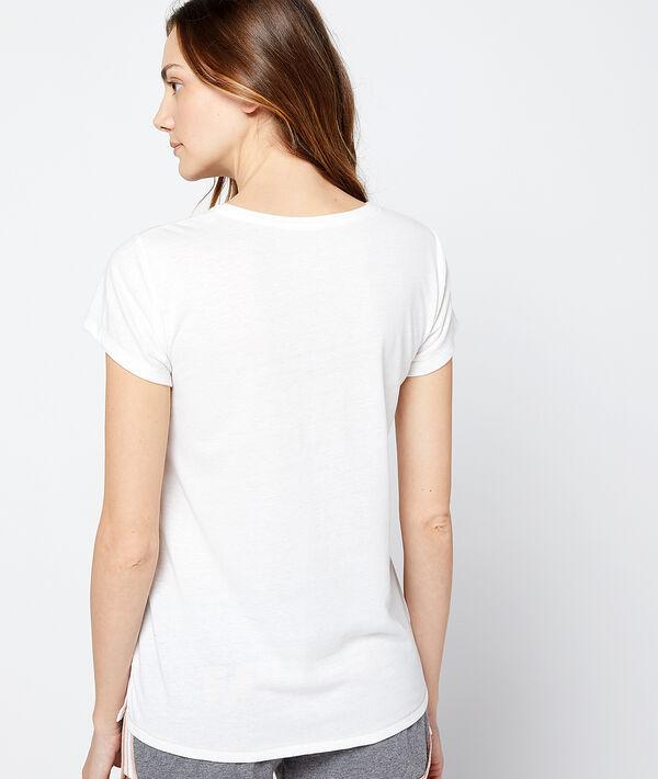 """T-shirt imprimé chien message """" Fatiguée"""""""