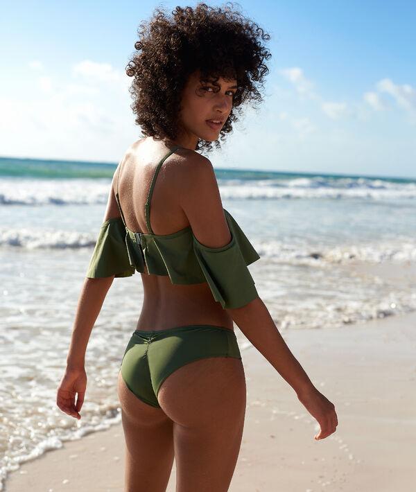 Bas de bikini hipster, froncé au dos