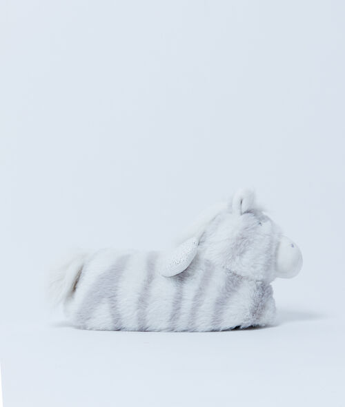 Chaussons 3D Zèbre