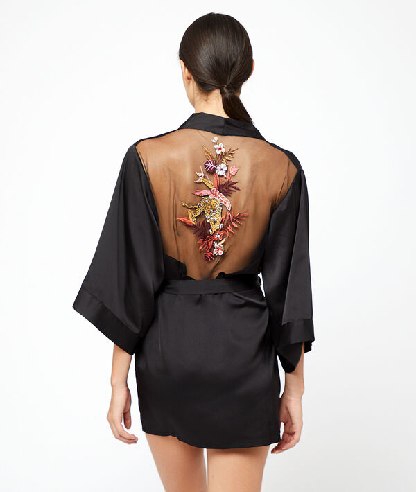 Kimono tigre brodé au dos