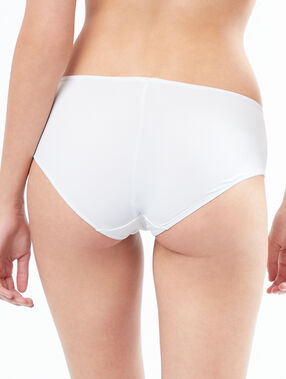 Shorty en microfibre blanc.