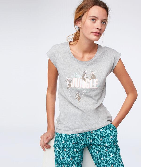 "T-shirt ""Jungle party all day"" en coton bio"