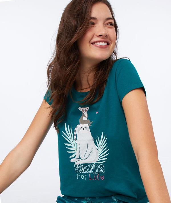 T-shirt à message en coton bio