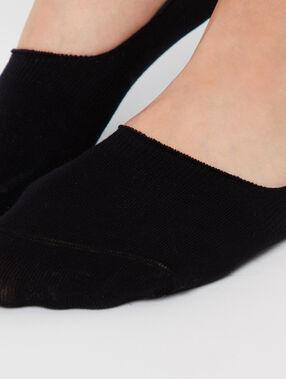 2 paires de socquettes invisibles noir.