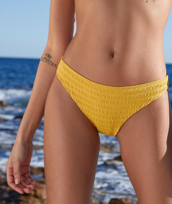 Culotte bikini smockée maillot de bain;${refinementColor}