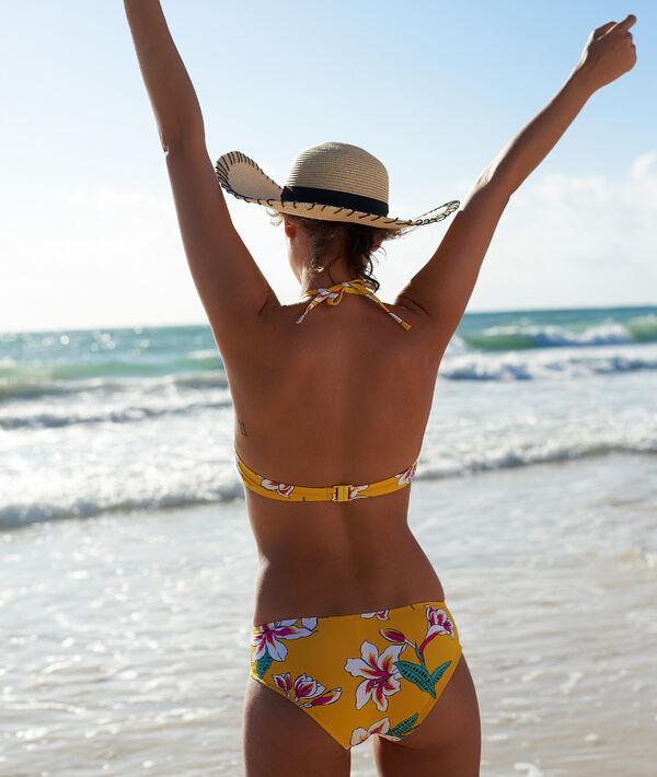 Bas de bikini shorty, imprimé fleuri