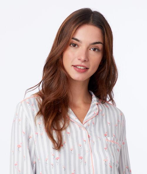 Chemise de nuit flamant rose