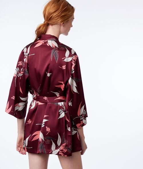 Déshabillé kimono imprimé