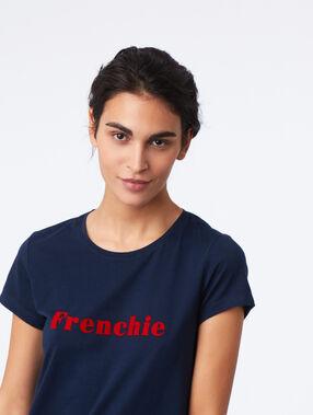 """Chemise de nuit """"frenchie"""" marine."""