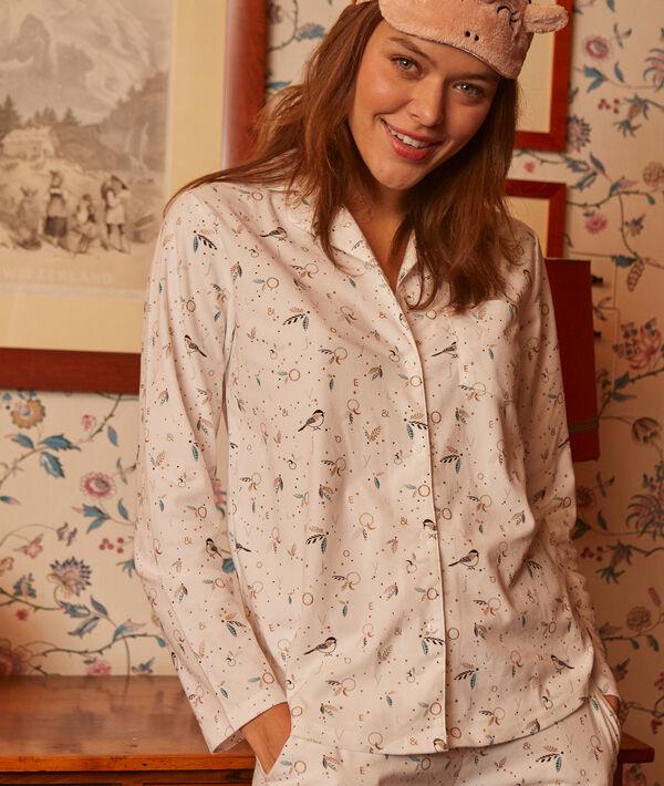 Chemise de pyjama imprimé oiseaux