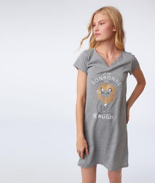 Chemise de nuit à message