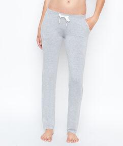 Pantalon façon jogging gris.