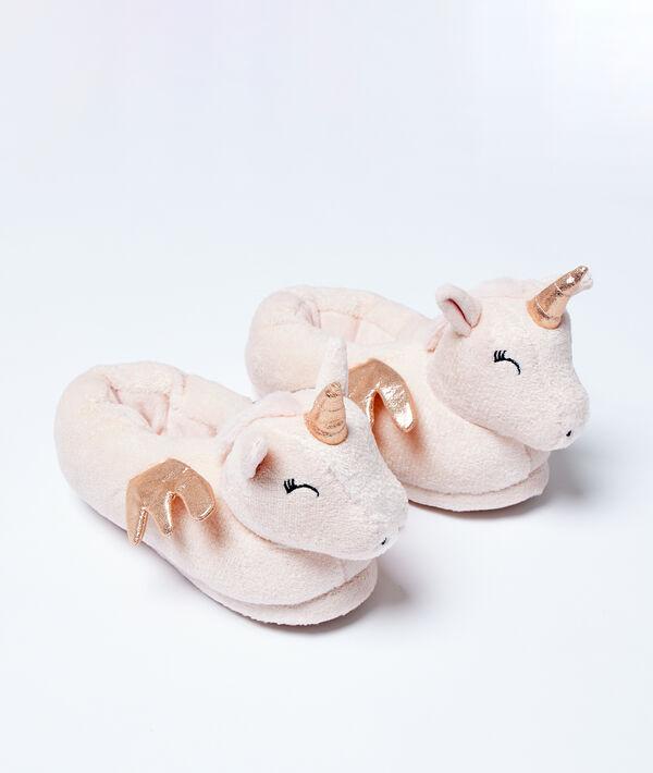 Chaussons mules 3D licornes