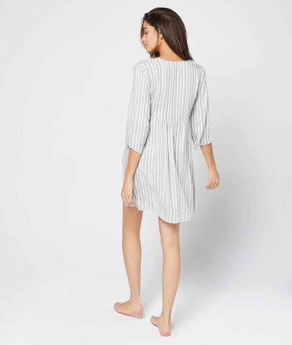Robe tunique à rayures
