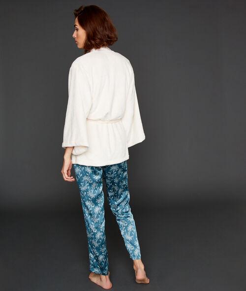 Pyjama 3 pièces imprimé fleuri