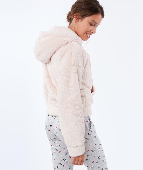 Veste homewear en fausse fourrure