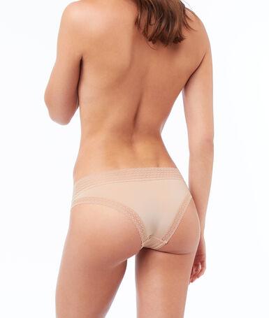 Hipster bi-matière nude.