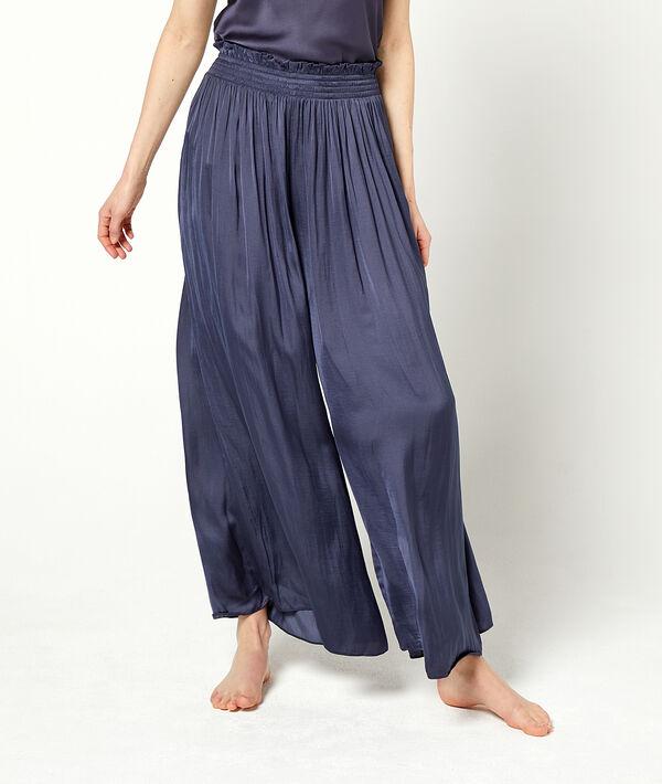 Pantalon ample ceinture smockée;${refinementColor}