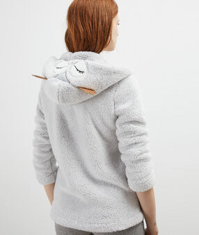 Veste homewear hibou grey.