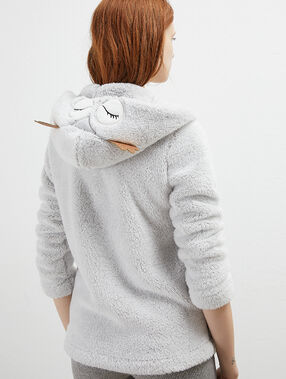 Veste homewear hibou grey.