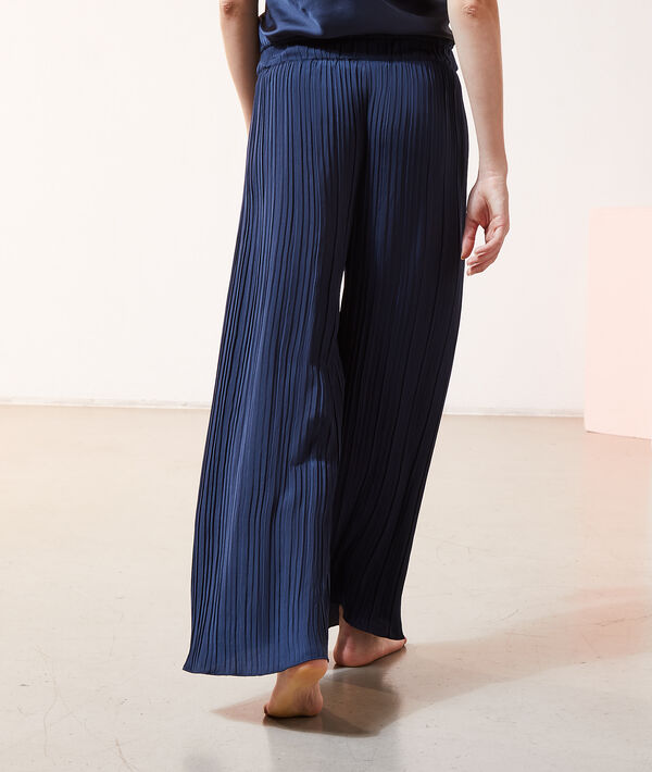 Pantalon plissé satiné;${refinementColor}