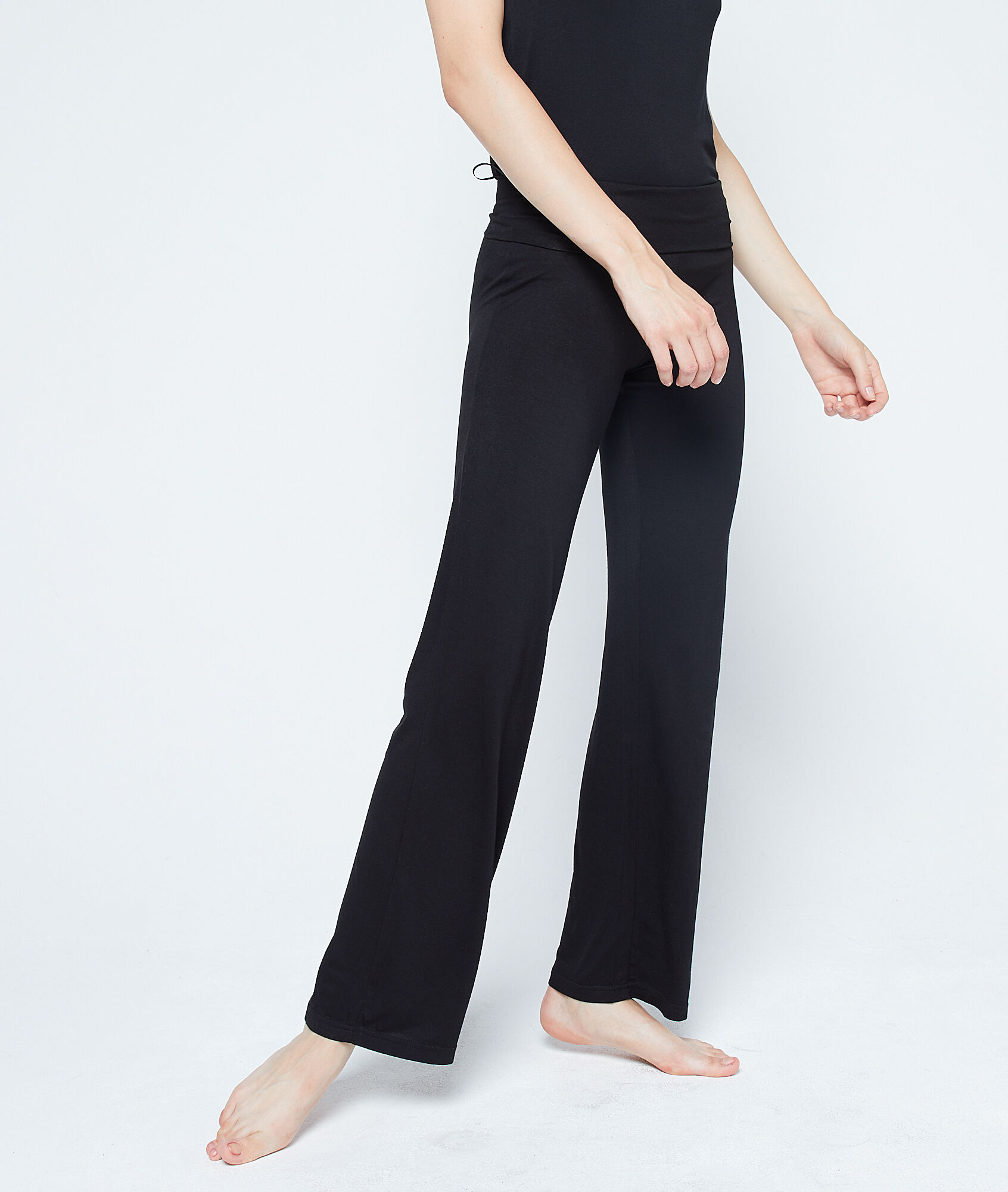 Pantalon fluide taille haute - AMELIA - NOIR - Etam b285e58409e