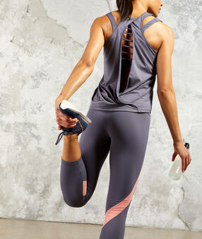 Pantalon de training 7/8 anthracite.