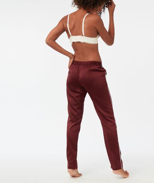 Pantalon bande contrastée