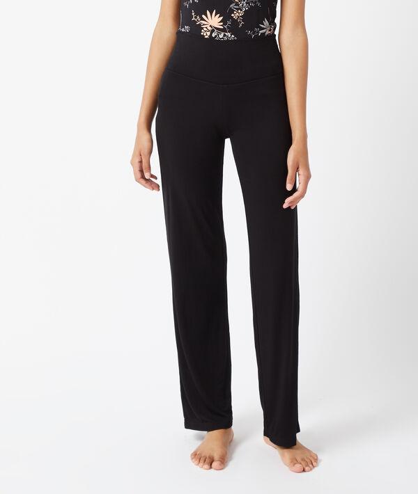 Pantalon fluide taille haute - AMELIA - Nuit - L - Noir - Femme - Etam