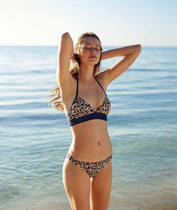 Bas de bikini simple, imprimé léopard