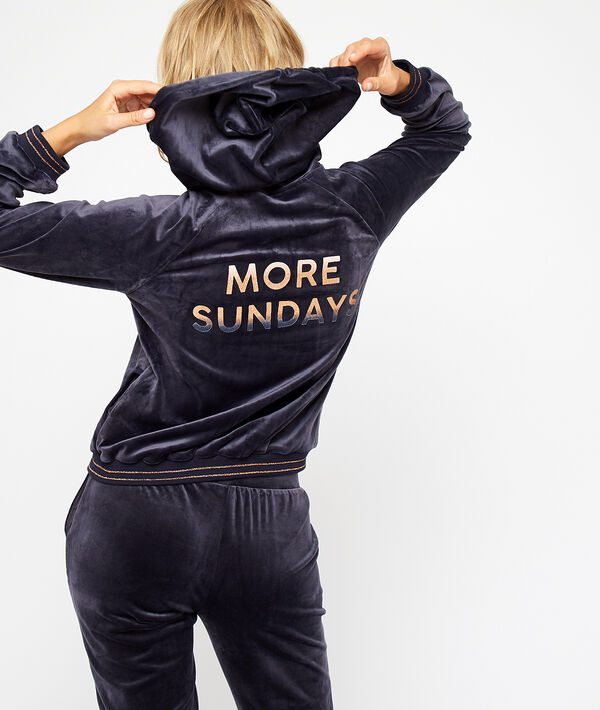 "Veste en velours ""More Sundays"""