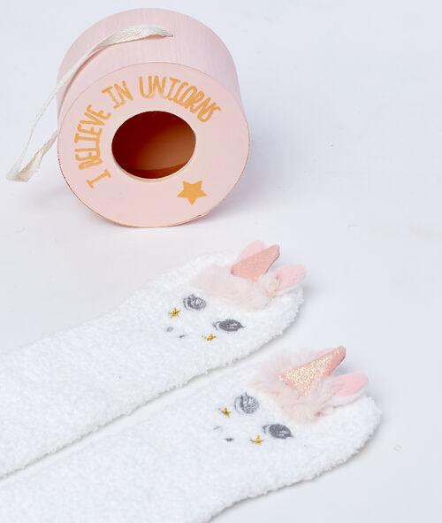Boite à chaussettes licorne