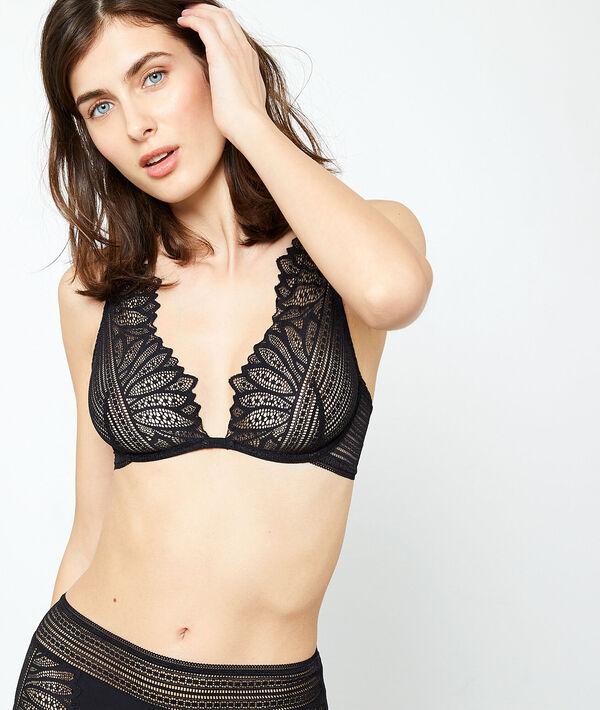 Soutien-gorge n°7 - triangle foulard - KARMA - 90B - Noir - Femme - Etam