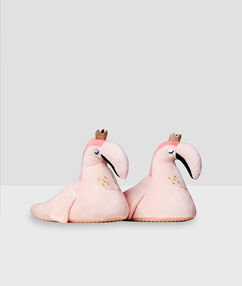 Chaussons flamants roses rose.