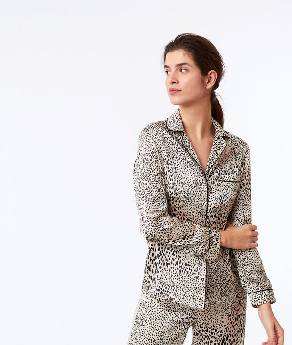 Chemise de pyjama imprimé léopard