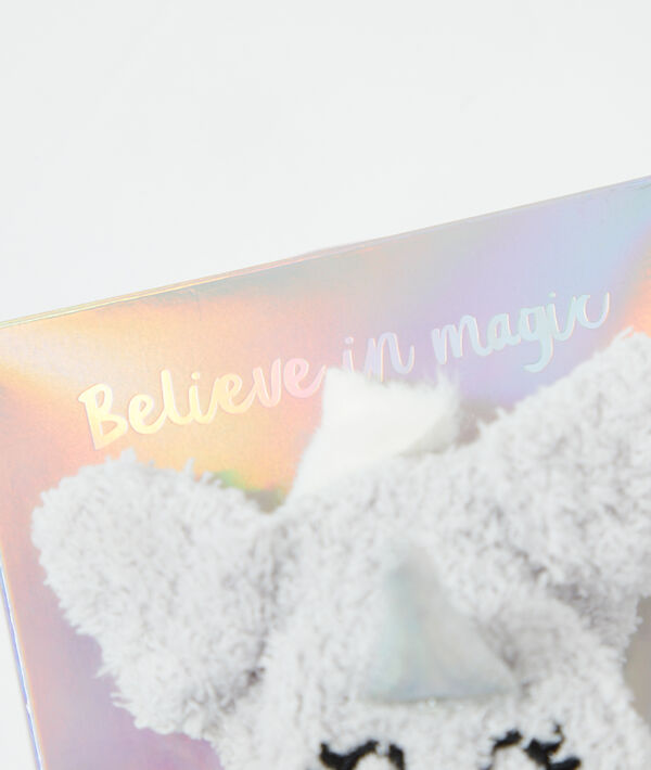 Chaussette cocooning licorne