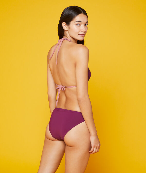 Bas de bikini simple bicolore