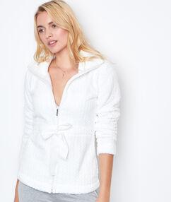 Veste épaisse ultra douce blanc.